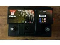 Nearly new Yuasa 075 battery