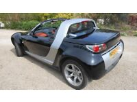 Smart Roadster sports car black low mileage electric roof, long MOT same mature owner last 9 years