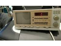 Retro Ingersoll tv/clock/radio alarm