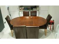 6 leather chairs and Extending table