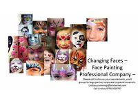 CHANGING FACES - FACE PAINTING COMPANY - Edinburgh and Surrounding areas