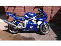 Yamaha R6, blue, 24k miles, great condition.