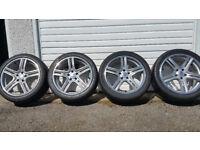 Audi 18 alloy wheels + 4 x tyres 245 40 18