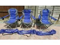 3 x Eurohike Langdale deluxe Garden Chairs