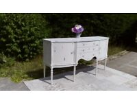 Beautiful Vintage Sideboard/Dresser. Shabby Chic, Old White. Delivery Available.