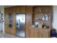 Farmhouse Style Oak kitchen units with granite work top