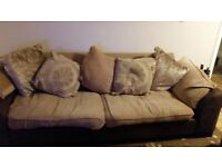 Free 4 seater sofa with matching foot stiil