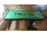6ft fold away pool/snooker table