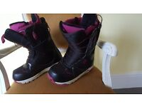 Burton snowboarding boots for sale almost new only worn for one week holiday !