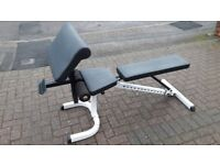 BODY SOLID WEIGHTS BENCH WITH ARM CURL ATTACHMENT Flat-Incline-Decline