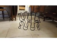 Black Iron Wine Rack in Great Condition