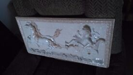 Chariot wall plaque. 600mmx300mm