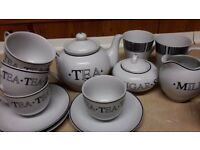 Tea pots and cups