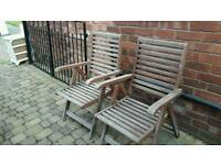 Wooden deck chairs