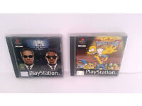 Ps1 games - Simpsons and men in black - Only £2 each