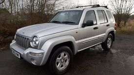 Jeep Cherokee LTD 2.5 TD **DIESEL**4x4**TOWBAR**LONG MOT**LEATHER**DVD**4 NEW TYRES