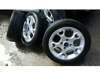 """2015 """" ford fiesta alloys and tyres"""