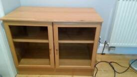 Glazed, veneered cabinet