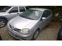 Nissan almera tino s automatic 2005-reg, 1800cc, only 80,000 miles, new mot on purchase