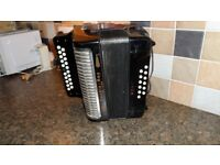 Hohner black dot double ray deluxe accordion