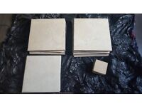 24 Beige Floor/Wall Tiles - Excellent condition - 5 Additional Tiles included - All for £5