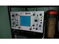 Dual trace oscilloscope for sale or swap.