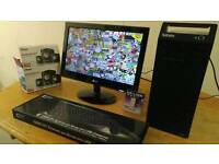 Lenovo Business Home Student PC Desktop Tower & LG 19 Widescreen LCD