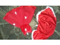 Ladybird Girls Red Christmas Fancy dress 2 Piece age 4 5 6 7 Years