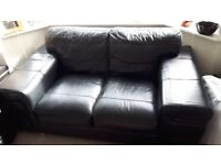 NEW PRICE FOR QUICK SALE 2x2 seater black leather sofas from DFS