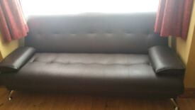 Faux leather Sofa Bed excellent condition