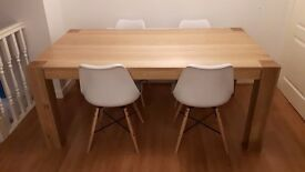 Beautiful Light Oak Dining Table (no chairs) in excellent condition