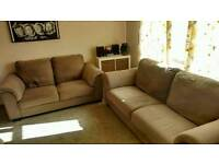 2 IKEA Medium Brown Tidafors Sofas 3 seater and 2 seater *Very Good Condition*