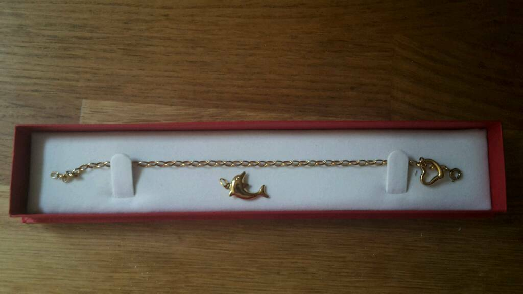 Girls gold plated charm bracelet