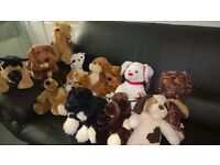 Collection of 13 x genuine Build-a-Bear dogs