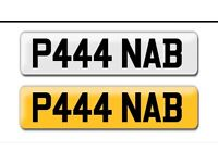 P444 NAB private cherished peronalised personal registration plate number