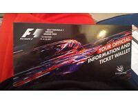 Tickets F1 Silverstone 16th Sunday 2 Tickets