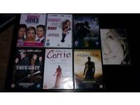 7 DVDS.CARRIE.GLADIATOR.BRIGET JONES.ETC.ALL NEW