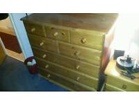 Solid pine set of 8 drawers
