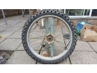 Yamaha YZ/WRF 125/250/400/450. FRONT WHEEL WITH TYRE.