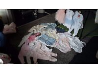 Newborn/Upto 1 Month Baby Girls Clothes Bundle
