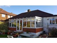 Conservatory for sale: approx 3m x 7m. Double glazed UPVC with roller blinds
