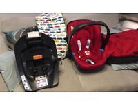 Mamas and papas car seat and extras
