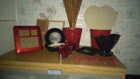 Red& black bric a brac bundle