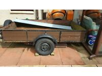 Trailer 7ftx5ft with brakes and spare wheel