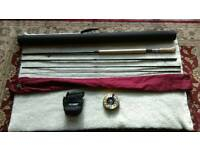 Salmon fly rod and reel