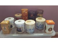 Collection of 10 Dutch, Sweet, Biscuit, and Chocolate Tins