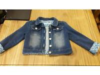 M and Co girls denim jacket age 3 to 4