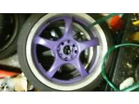 17 inch alloy wheels as new tyres jdm 4x100 4x108