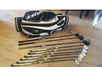 Taylormade RBZ Golf clubs and bag and trolley