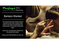Experience Barbers Wanted in Peejays Mens Barbers Chelmsford Essex